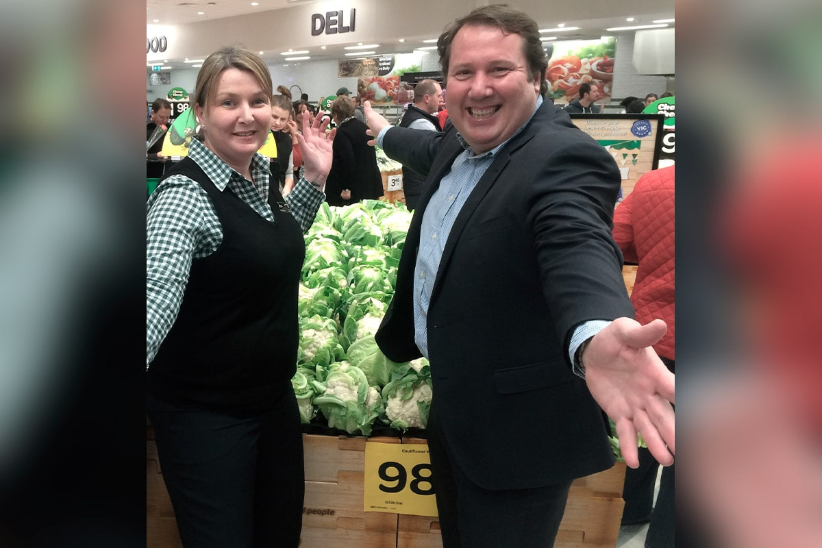 Celebrating the opening of the Barrabool Hills Shopping Centre