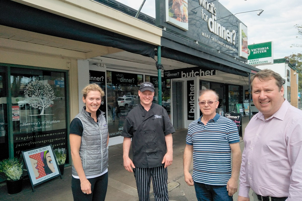 Supporting local small business traders