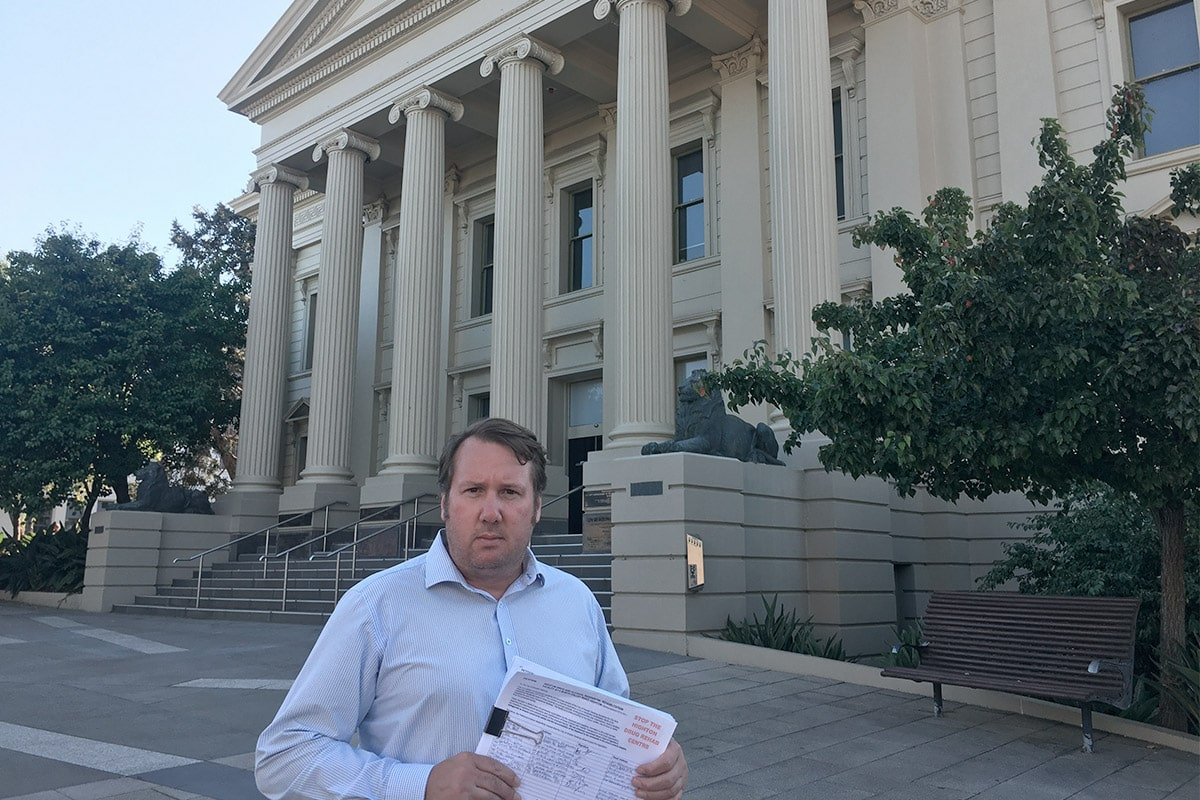 Taking my petition to save our libraries to Council