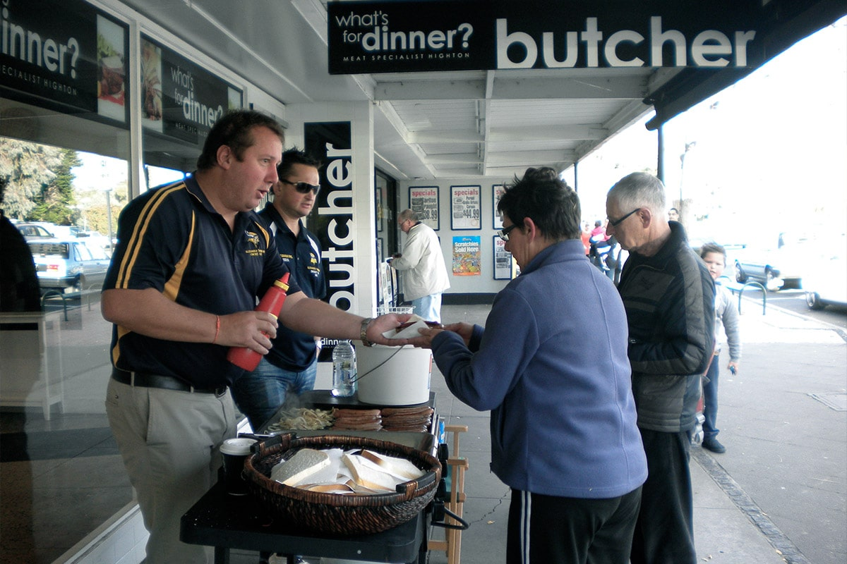 Supporting local community groups on the BBQ