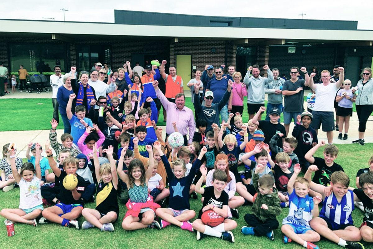 Building new sporting and community infrastructure