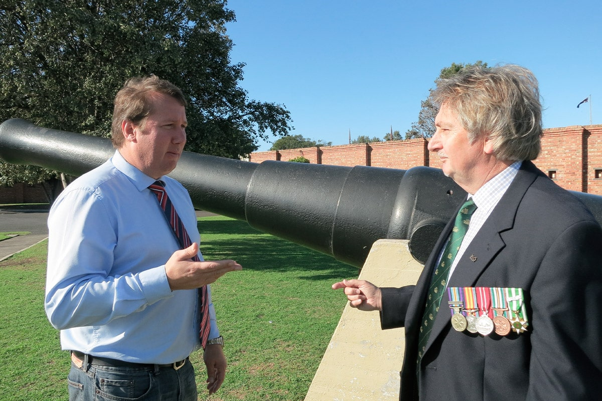 Discussing Veteran's Issues with a Vietnam Vet