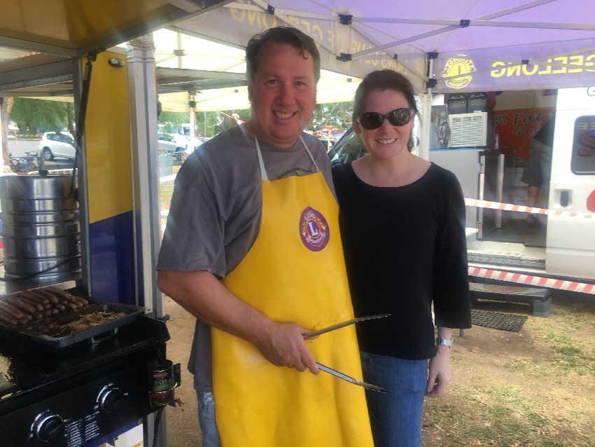 Cooking the BBQ for Lions at the Australia Day Picnic
