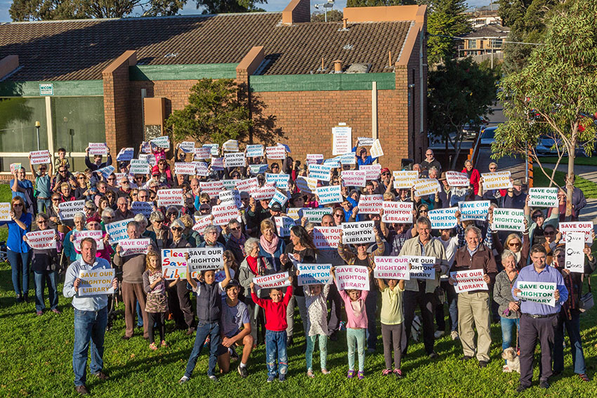 With passionate supporters to save our Highton library