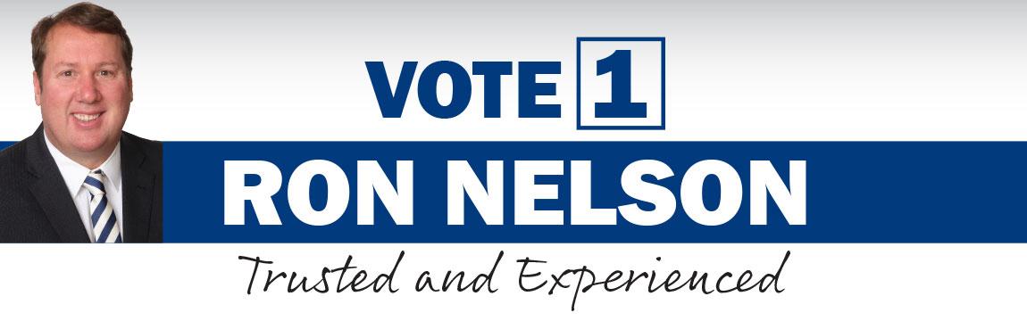 Vote 1 Ron Nelson header graphic